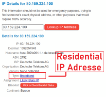 Residential IP Adresse