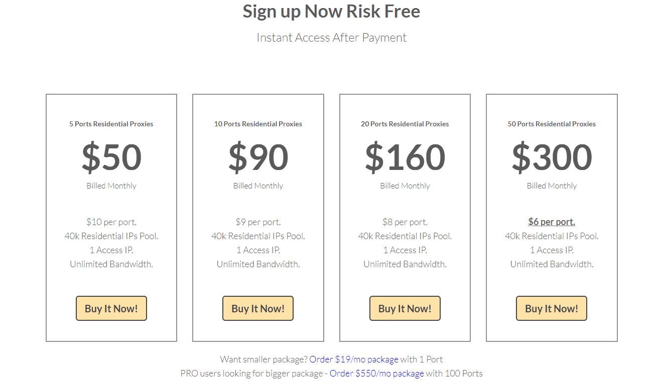 stormproxies homepage